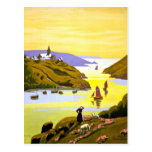 France Bretagne Vintage Travel Poster Restored Postcard