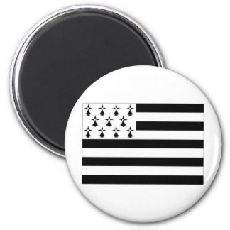 France Brittany Flag 2 Inch Round Magnet