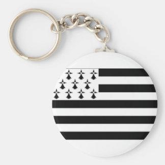 France Brittany Flag Keychain