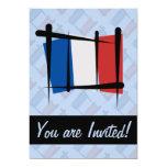 """France Brush Flag 5"""" X 7"""" Invitation Card"""