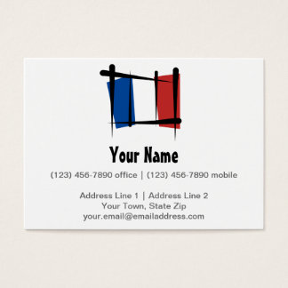 France Brush Flag Business Card