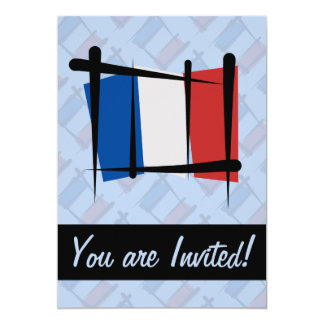 France Brush Flag Card