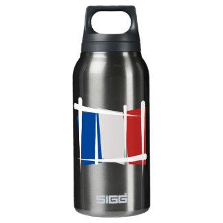 France Brush Flag Insulated Water Bottle