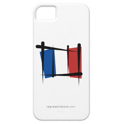 France Brush Flag iPhone 5 Covers
