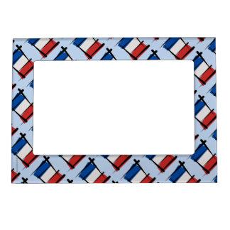 France Brush Flag Magnetic Photo Frame