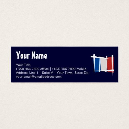 France Brush Flag Mini Business Card