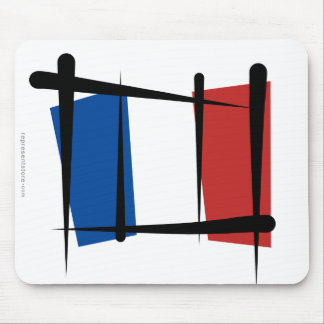 France Brush Flag Mouse Pad