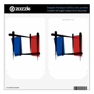 France Brush Flag FreeAgent GoFlex Skins