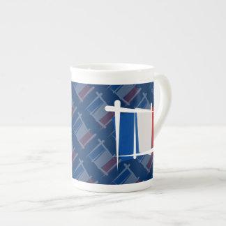 France Brush Flag Tea Cup