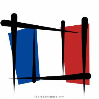 France Brush Flag Statuette