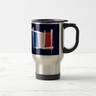 France Brush Flag Travel Mug