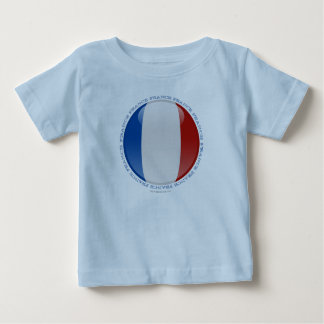 France Bubble Flag Baby T-Shirt