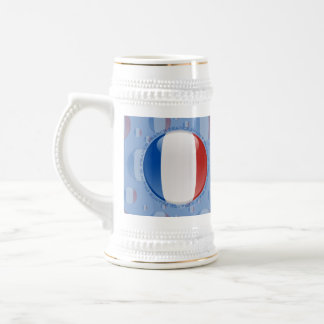 France Bubble Flag Beer Stein