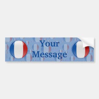 France Bubble Flag Car Bumper Sticker
