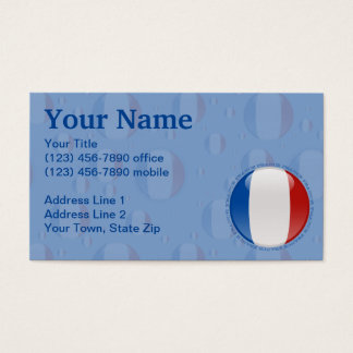 France Bubble Flag Business Card