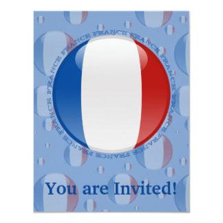 France Bubble Flag Card