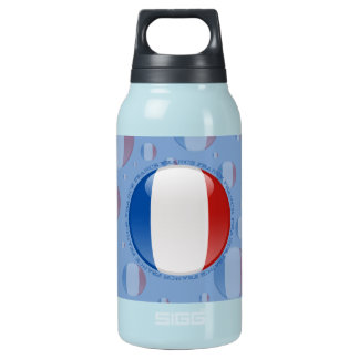 France Bubble Flag Insulated Water Bottle