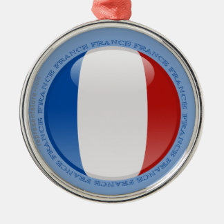 France Bubble Flag Metal Ornament