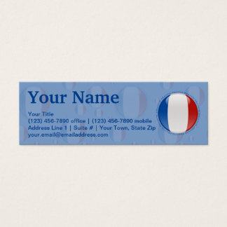 France Bubble Flag Mini Business Card