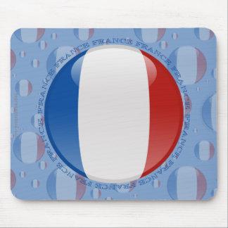 France Bubble Flag Mouse Pad