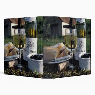 France, Burgundy, Chablis. Local wine and Binder