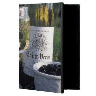France, Burgundy, Chablis. Local wine and Case For iPad Air