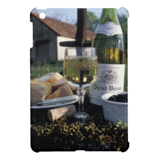 France, Burgundy, Chablis. Local wine and Case For The iPad Mini