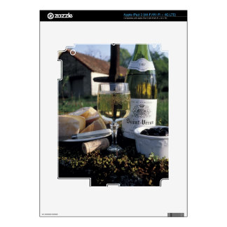 France, Burgundy, Chablis. Local wine and Decal For iPad 3