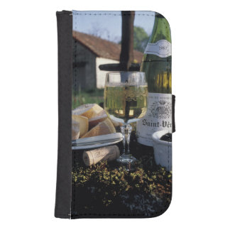 France, Burgundy, Chablis. Local wine and Galaxy S4 Wallet Case