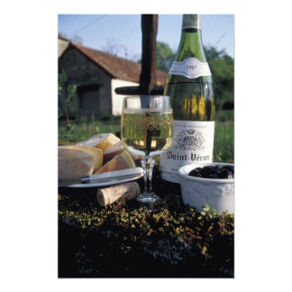 France, Burgundy, Chablis. Local wine and Photo Art