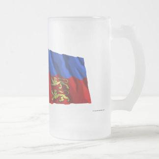 France & Calvados waving flags Mug