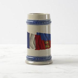 France & Calvados waving flags Coffee Mug