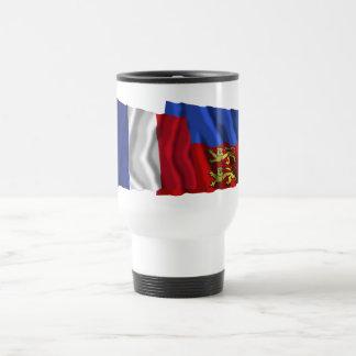 France & Calvados waving flags Coffee Mugs