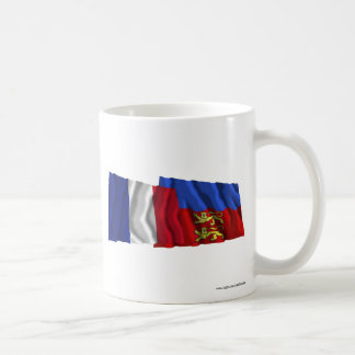 France & Calvados waving flags Mugs