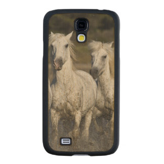 France, Camargue. Horses run through the 2 Carved® Maple Galaxy S4 Slim Case