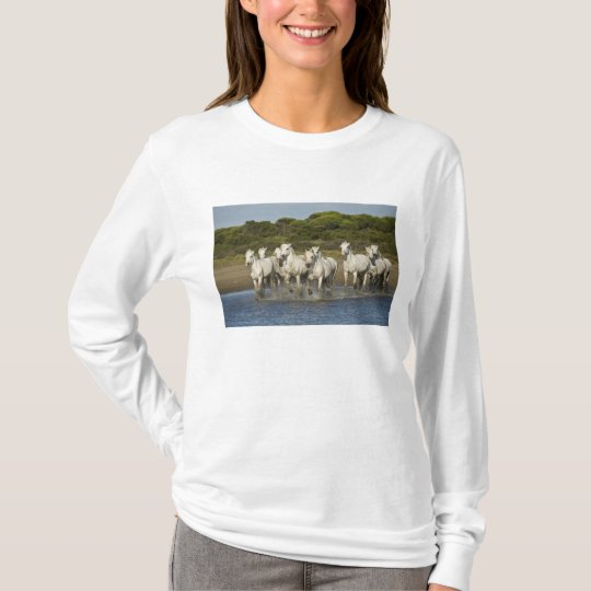 France, Camargue. Horses run through the estuary 3 T-Shirt
