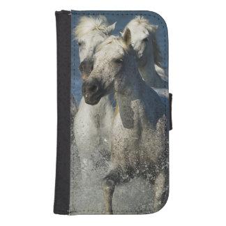 France, Camargue. Horses run through the estuary 4 Galaxy S4 Wallet