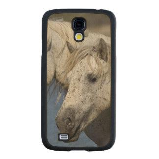 France, Camargue. Horses run through the Carved® Maple Galaxy S4 Slim Case