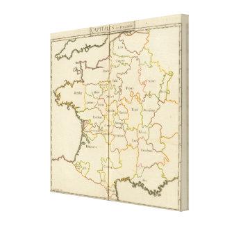 France  Capitals Canvas Print