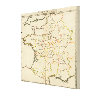 France  Capitals Gallery Wrap Canvas