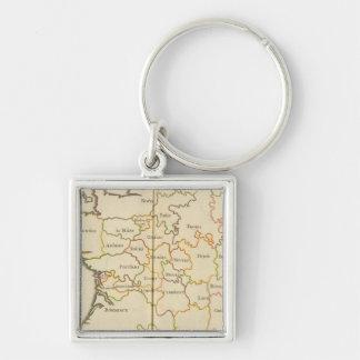 France  Capitals Key Chain