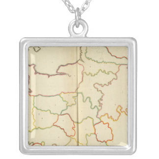 France  Capitals Outlines Silver Plated Necklace