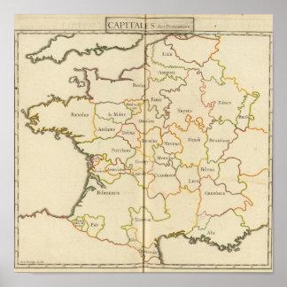 France  Capitals Poster