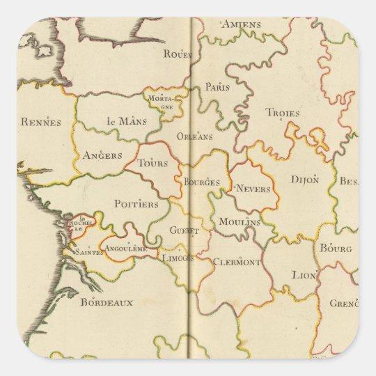 France  Capitals Square Sticker