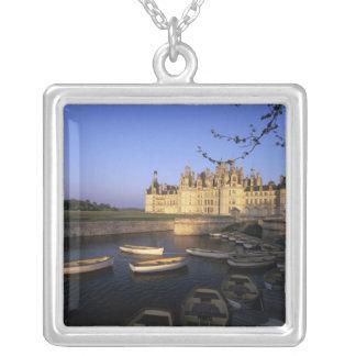 France, Centre, Loir et Cher, Chateau Chambord Silver Plated Necklace