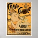 France Champagne Vintage Wine Drink Ad Art Poster