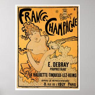 France Champagne Vintage Wine Drink Ad Art Print