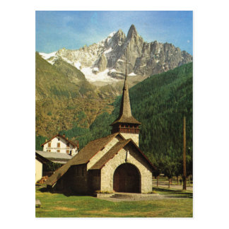 France, Chapelle de Praz, high in the French alps Postcard