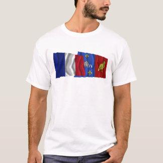 France & Charente-Maritime waving flags T-Shirt
