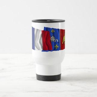 France & Charente-Maritime waving flags Travel Mug